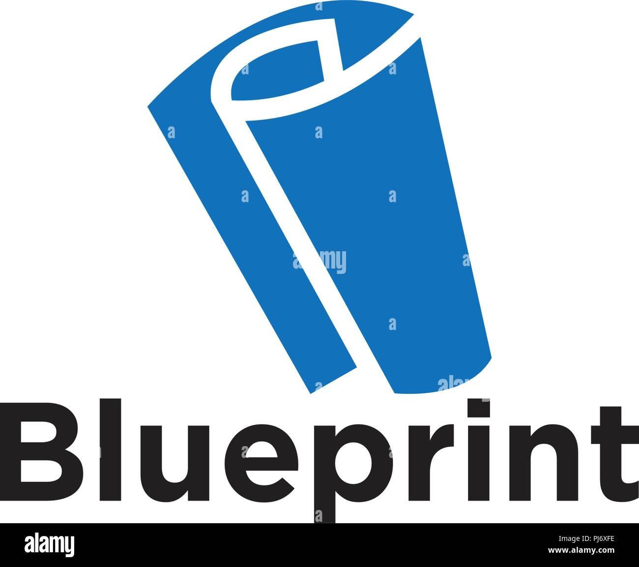 Illustration of blueprint paper logo icon element template vector illustration of blueprint paper logo icon element template vector malvernweather Gallery
