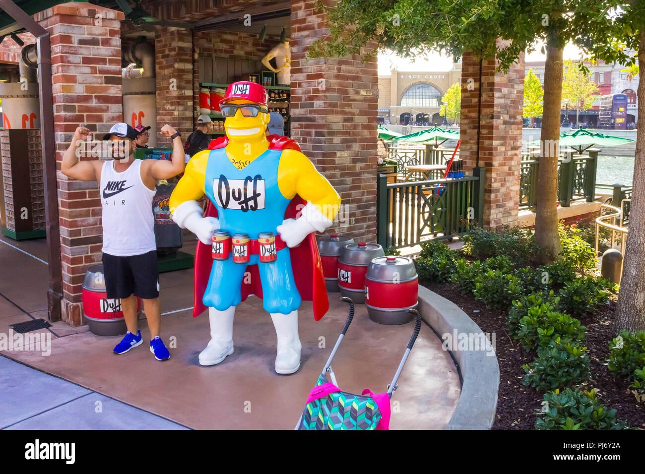 Map Of Universal Studios Florida.Orlando Florida Usa May 10 2018 The Man Making Photo At Park