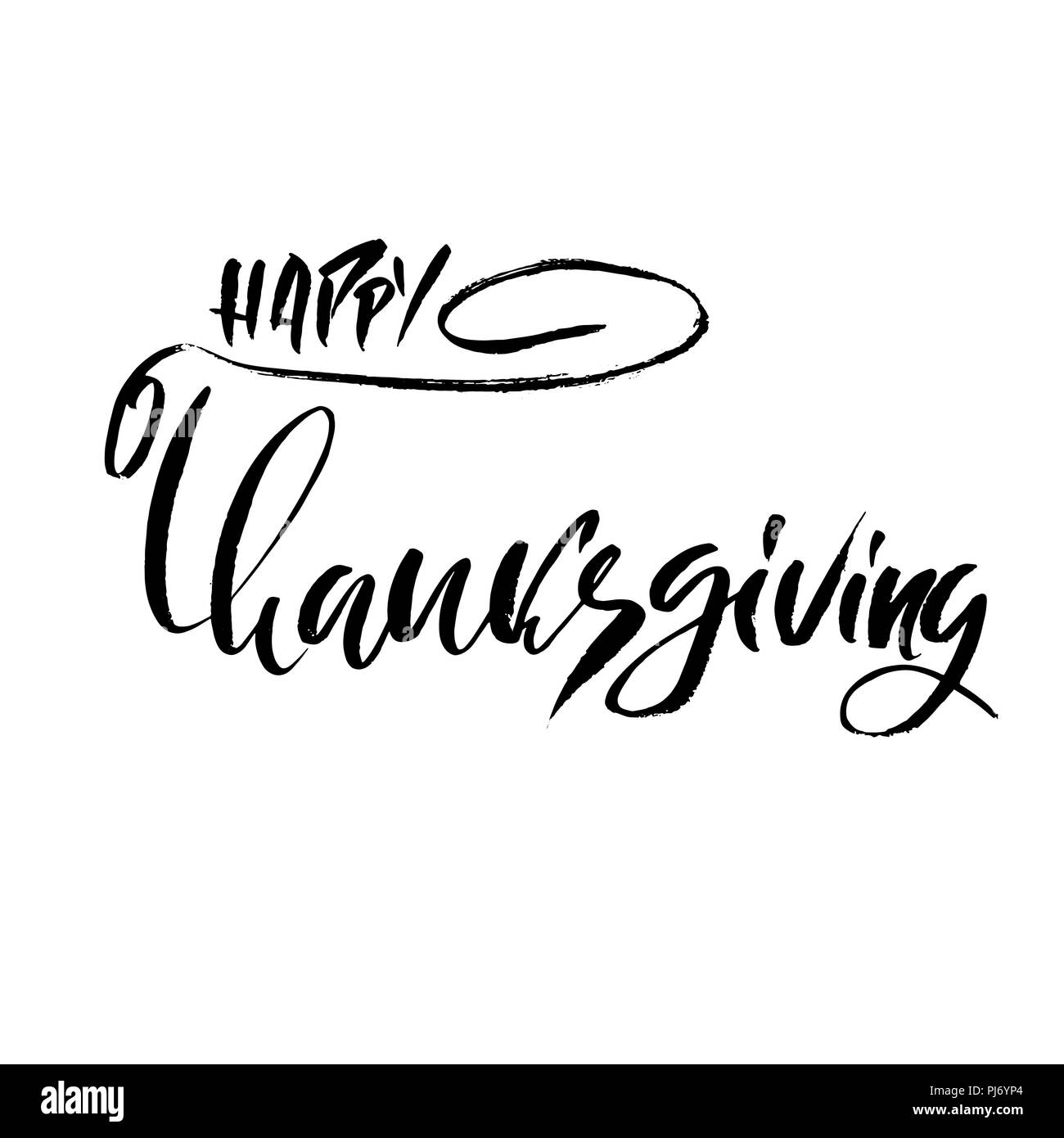 handwritten thanksgiving lettering happy thanksgiving card template
