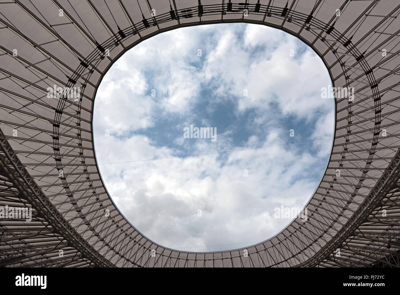View from the roof of San Mames, football stadium, home of the Athletic Club Bilbao, Basque Country, Spain.. - Stock Image