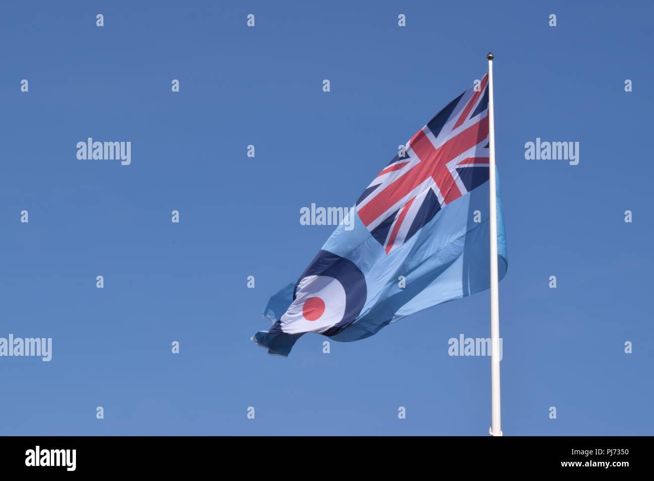RAF 100 year anniversary flag - Stock Image