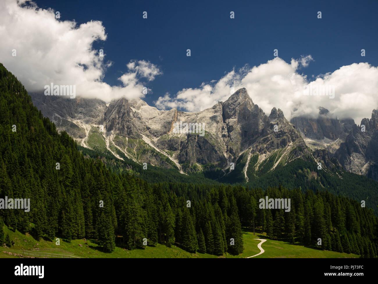 Pala Group from Malga Ces (San Martino di Castrozza, Province of Trento, Italy) Stock Photo