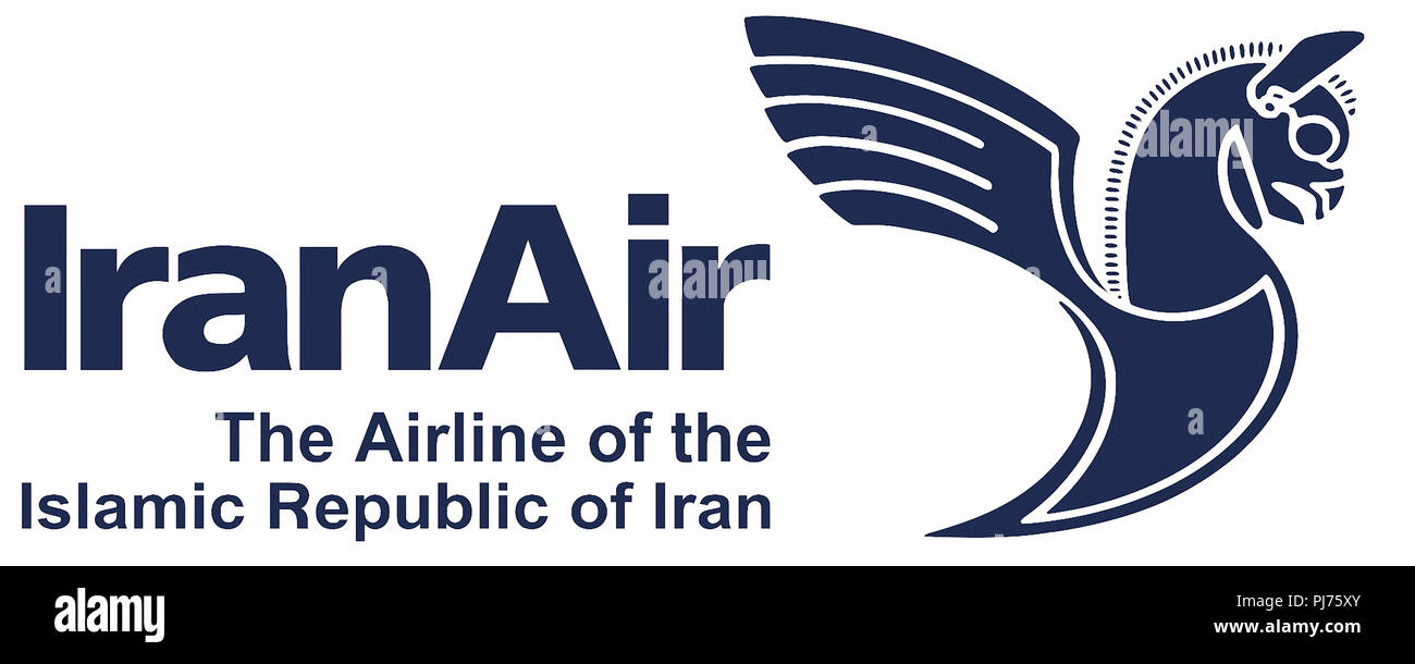 Logo of the airline IranAir of the Islamic Republic of Iran with seat in Tehran - Iran. Stock Photo