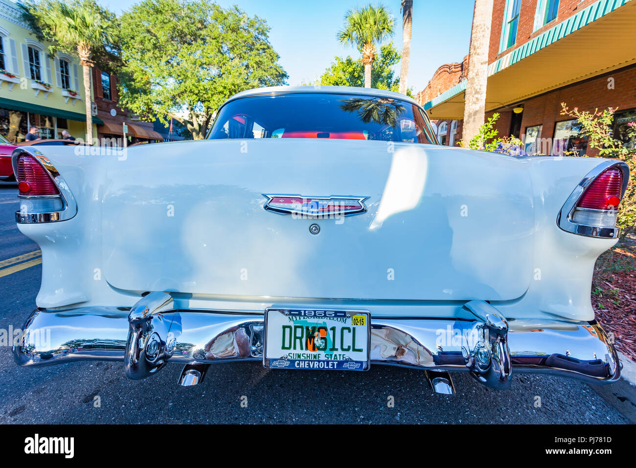 Chevrolet BelAir Coupe At A Classic Car Show In Amelia Island - Amelia car show