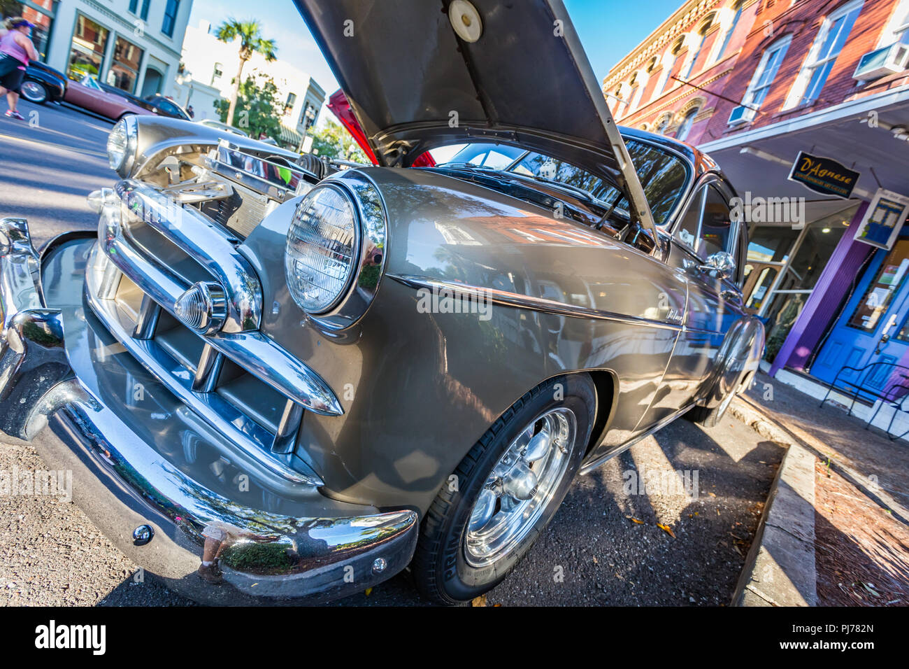 Chevrolet DeLuxe Coupe At A Classic Car Show In Amelia Island - Amelia car show