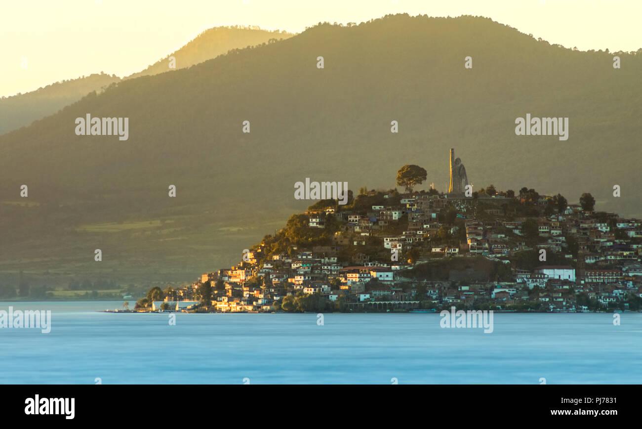 Janitzio island, in the lake of Patzcuaro, Michoacan, Mexico - Stock Image