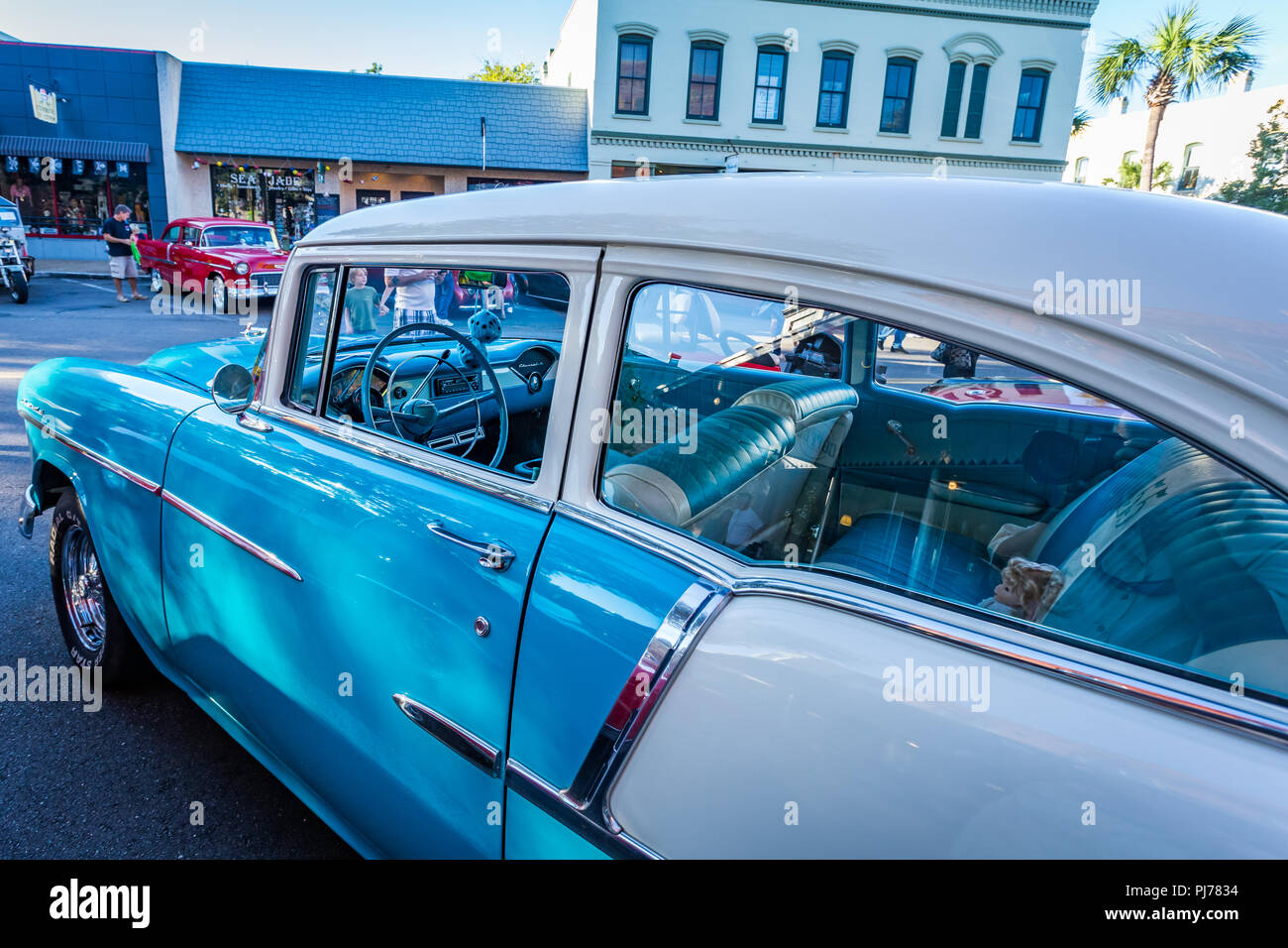Chevrolet BelAir Coupe At A Classic Car Show In Amelia Island - Amelia island car show