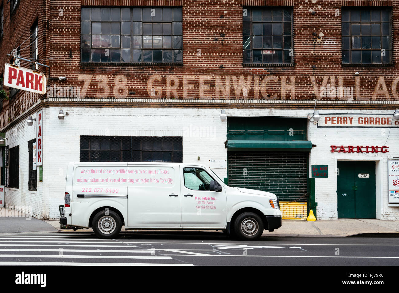 New York City, USA - June 22, 2018: Greenwich Village Garage with ...