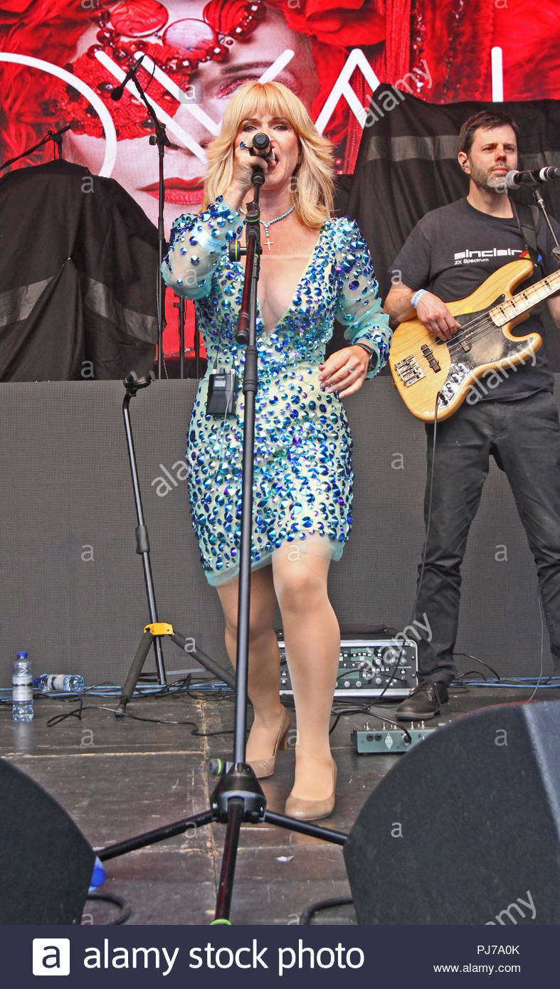 Toyah opens Irlam Live 2018 in Princes Park, Irlam, Manchester on Friday 01 June 2018 - Stock Image