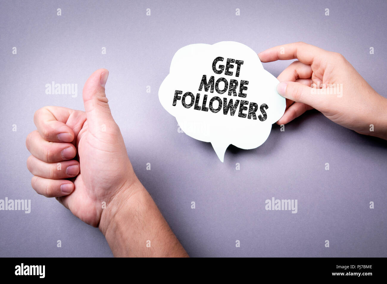 Get More Followers concept - Stock Image