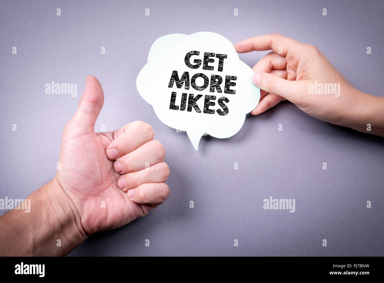 Get More Likes concept - Stock Image