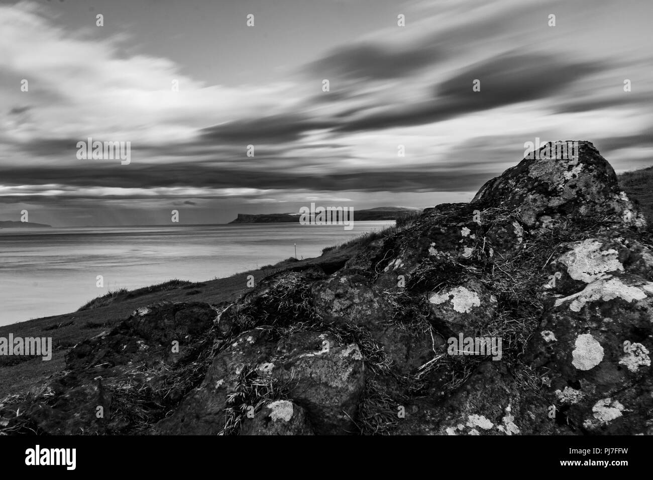 longtime exposure in black and white - Stock Image