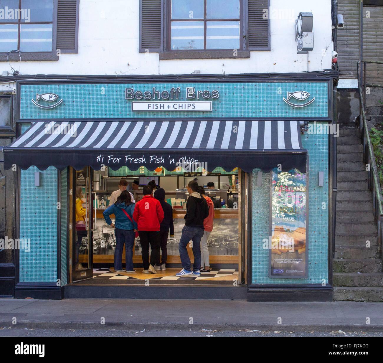 Beshoff's Bros.Fish and Chip shop in Howth,Co.Dublin. - Stock Image