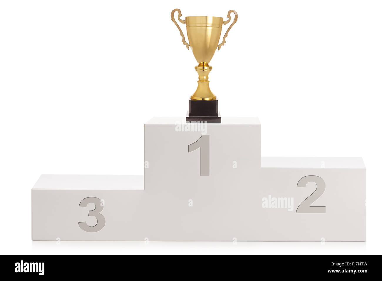 Winner S Pedestal For First Second And Third Place With A