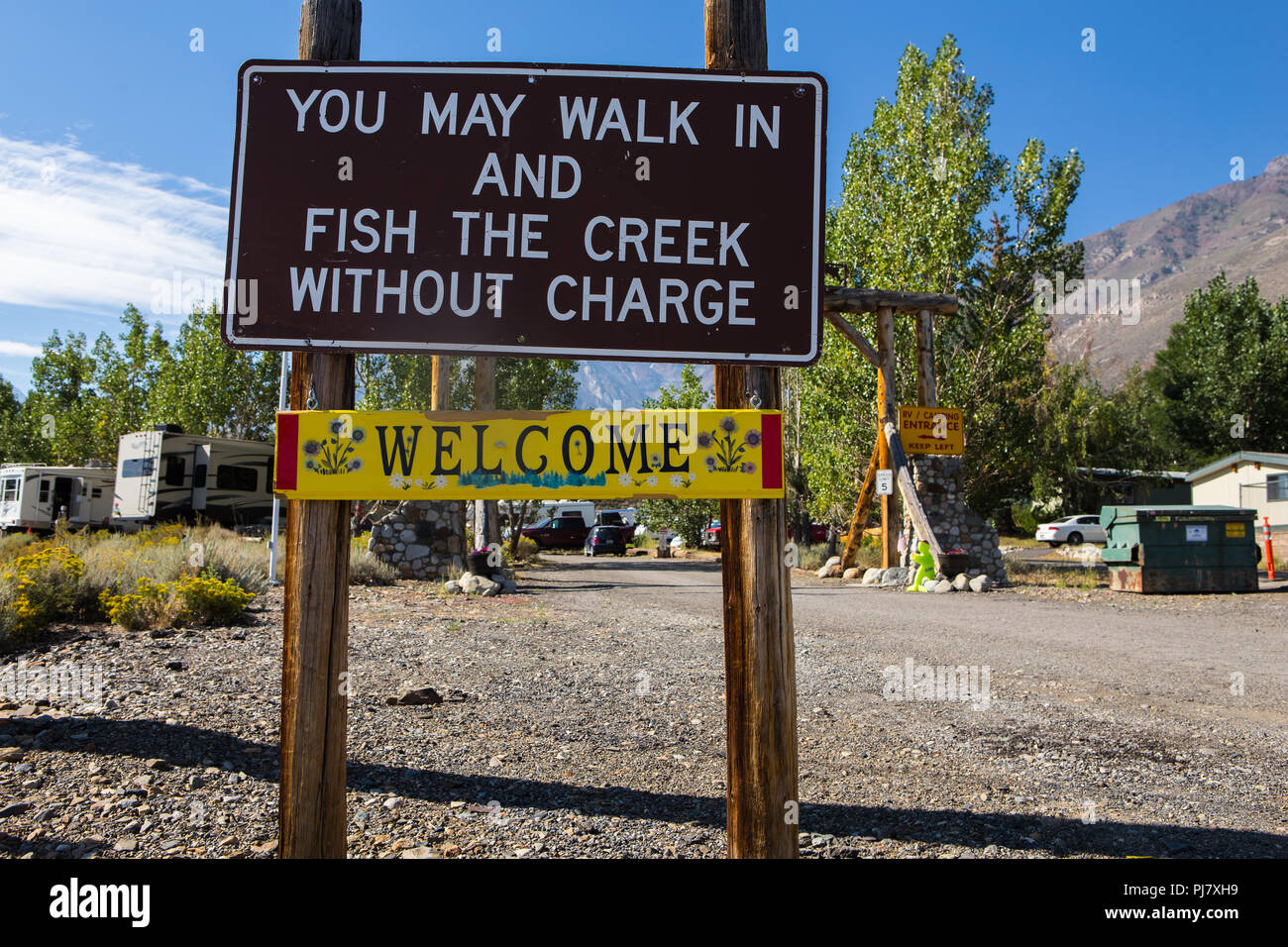 McGee Creek RV park and campground on highway 395 in the Eastern