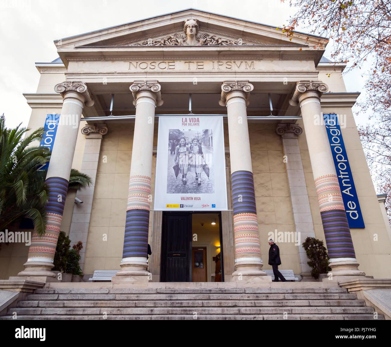 Museo Nacional de Antropología. Madrid. España - Stock Image