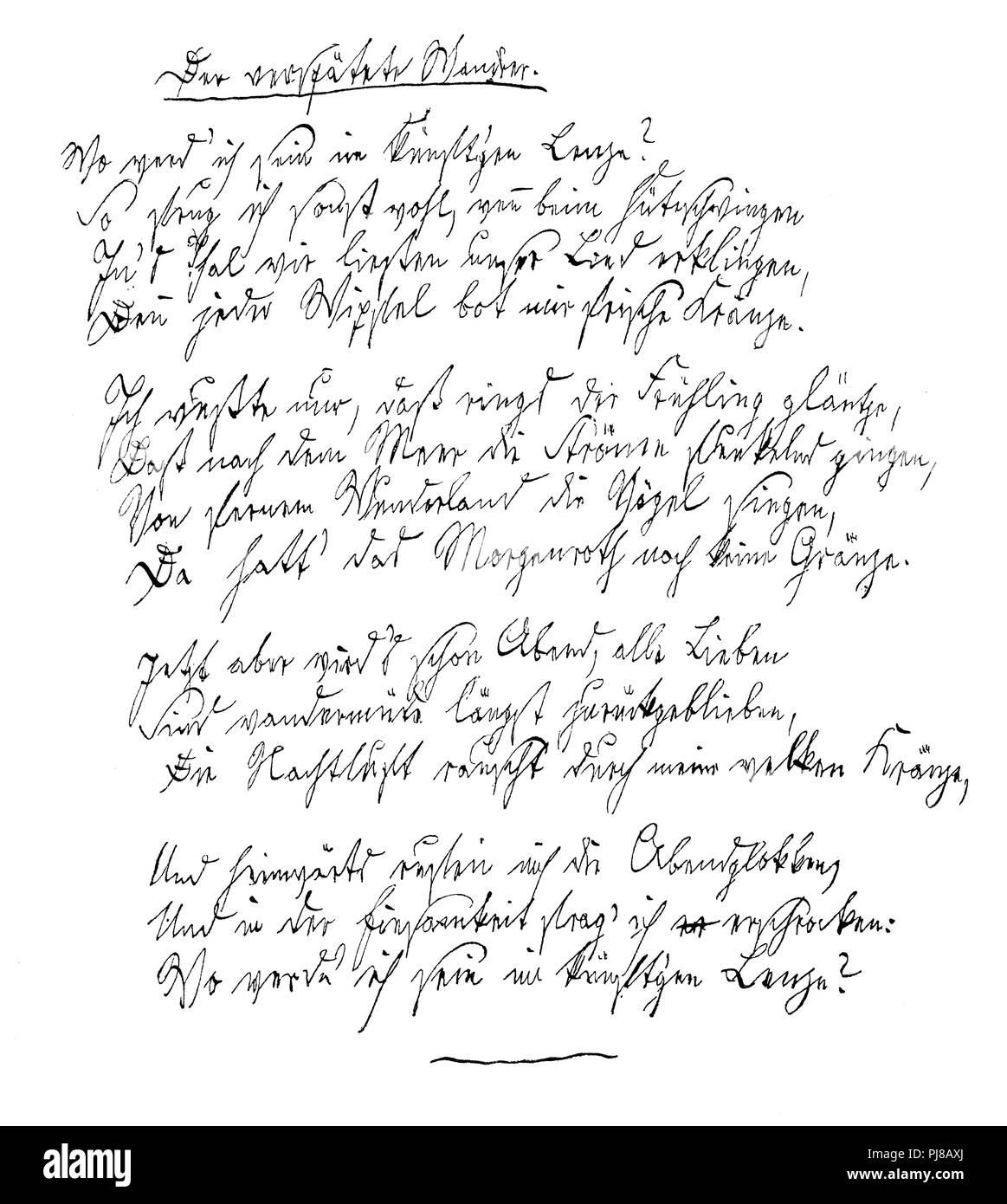 The Belated Wandrer Poem By Joseph Freiherr Von