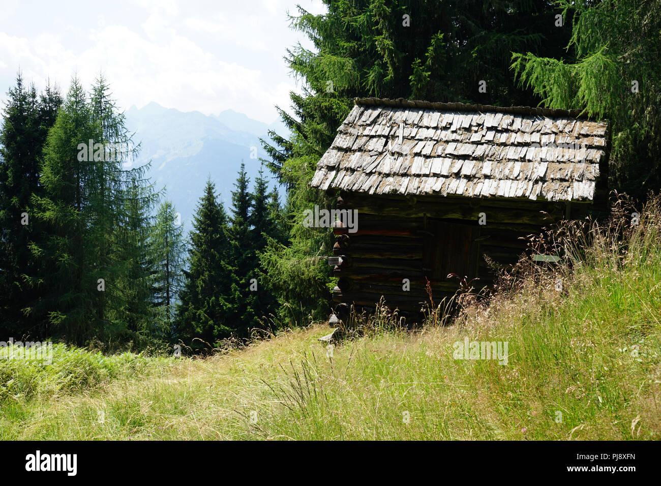 Heuschober, Lesachtal, Kärnten, Österreich - Stock Image