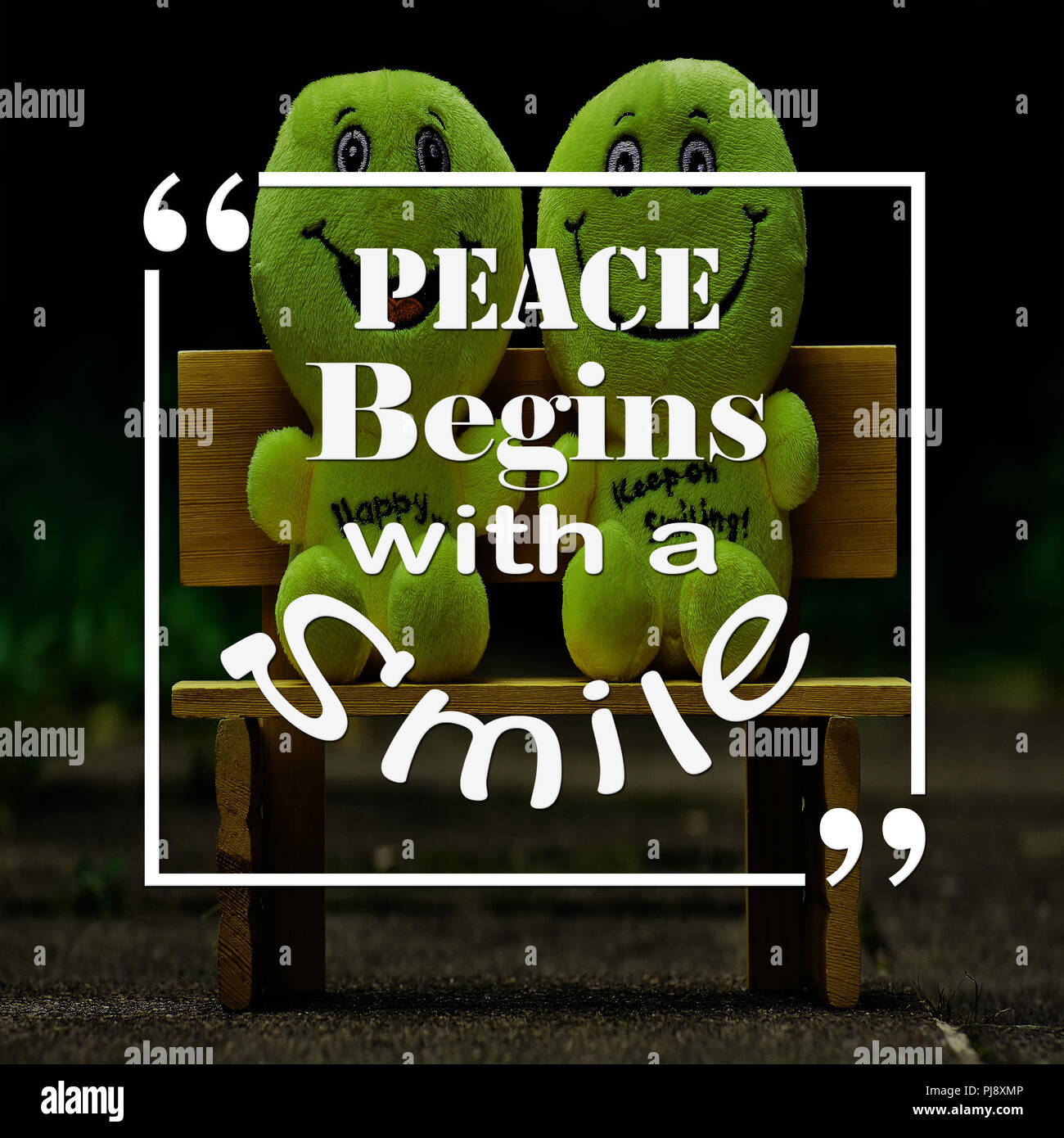 Inspirational Quotes Peace Begins With A Smilepositive Motivation
