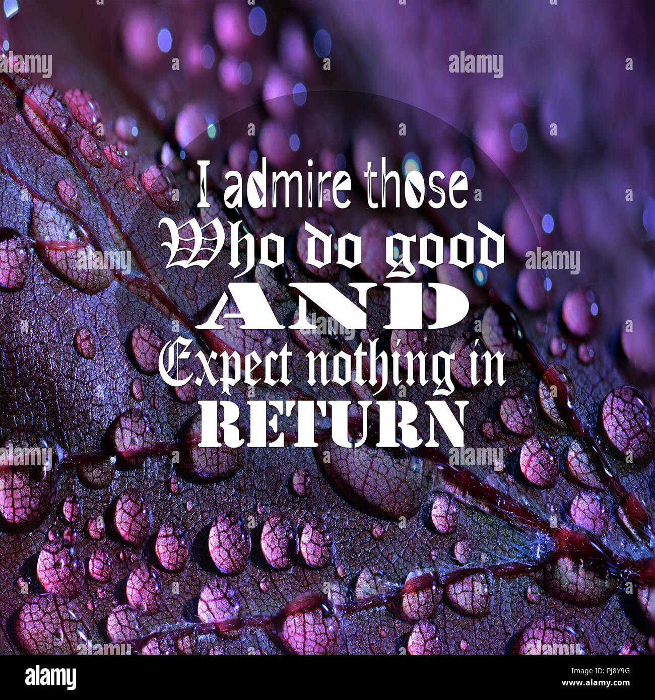 Inspirational Quotes: I admire those who do good and expect ...