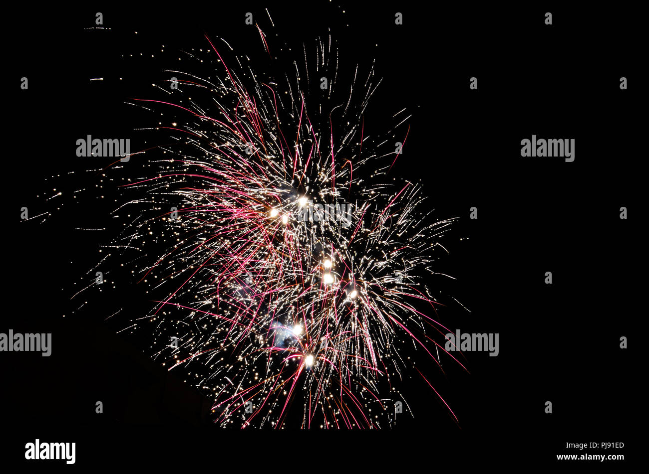 Firework on black isolate - Stock Image