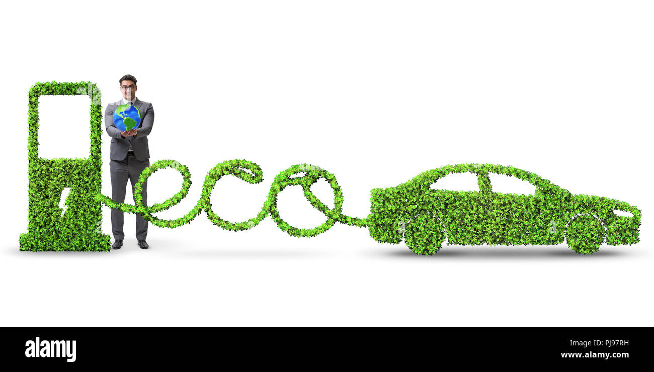 Eco friendly car powered by alternative energy - Stock Image