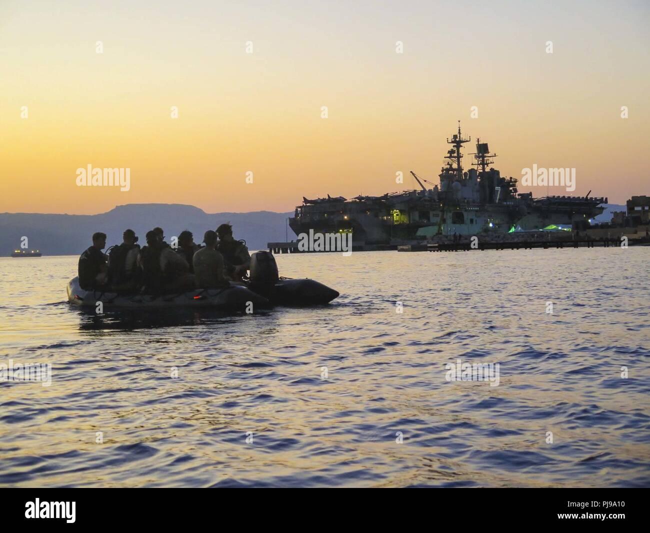 official photos af832 db6a8 AQABA, Jordan (July 8, 2018) U.S. Marines with Maritime Raid Force (