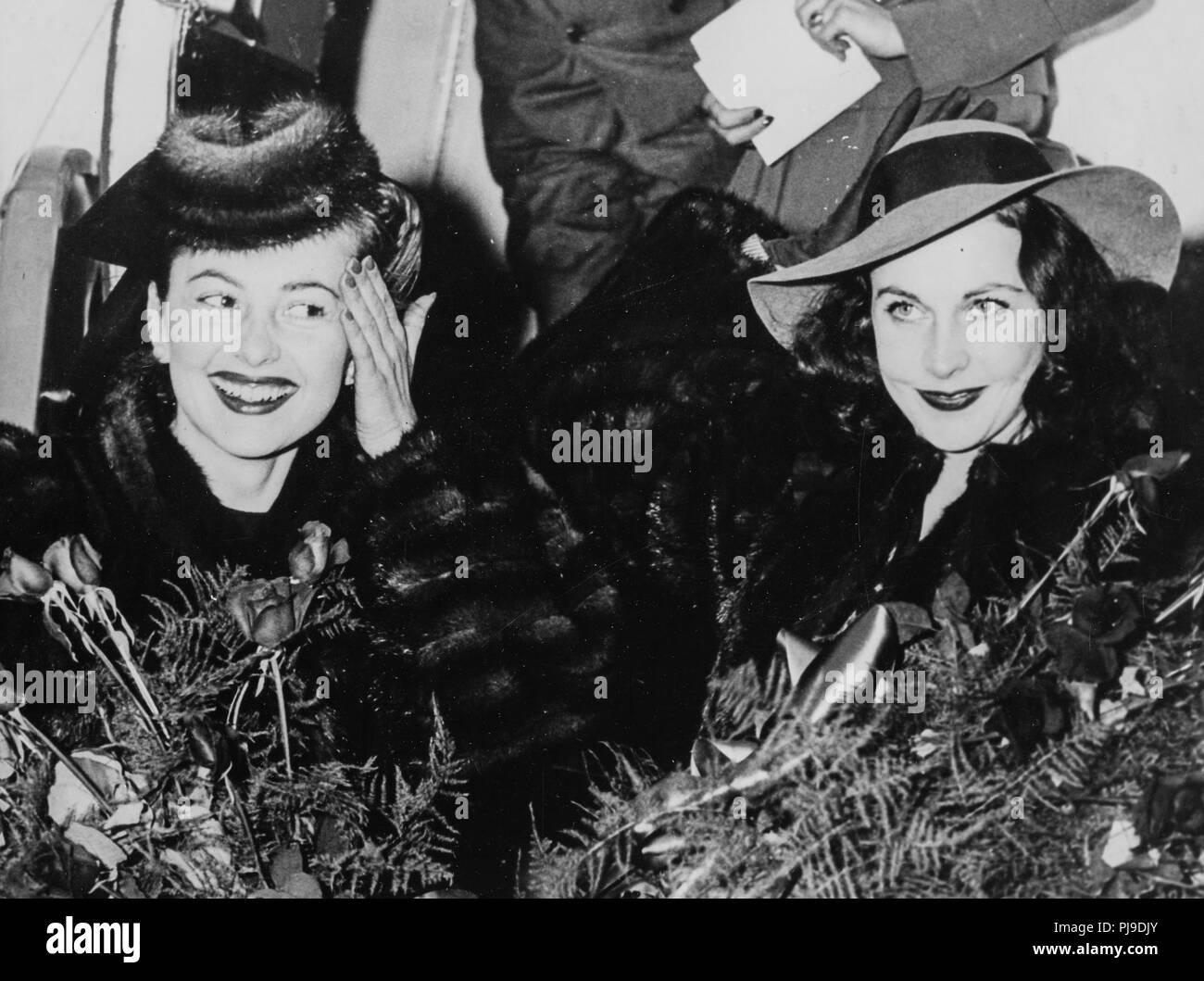 olivia de havilland, vivien leigh, atlanta, georgia, 1939 - Stock Image