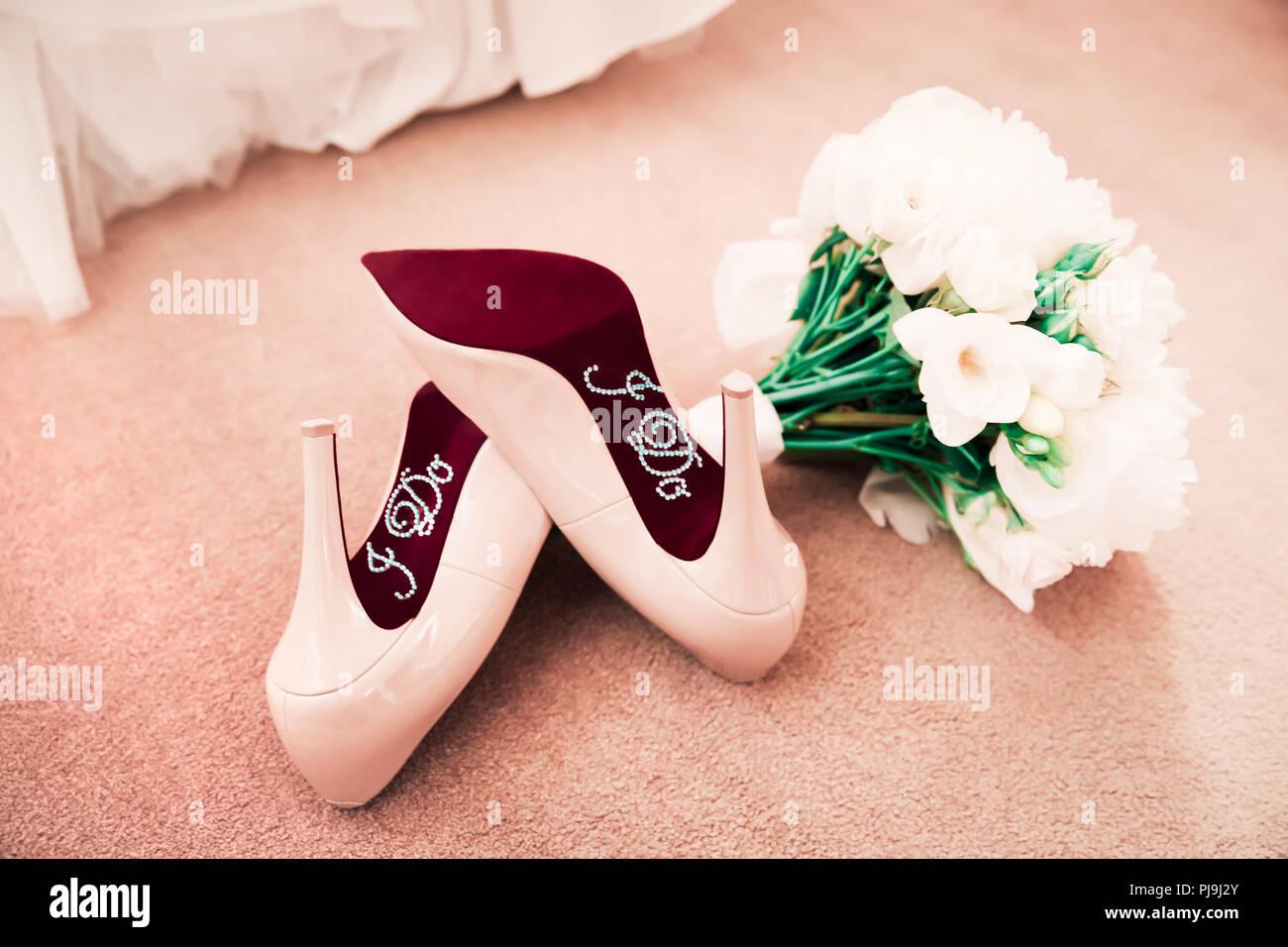 5e930860367 Wedding Shoes Stock Photos & Wedding Shoes Stock Images - Alamy