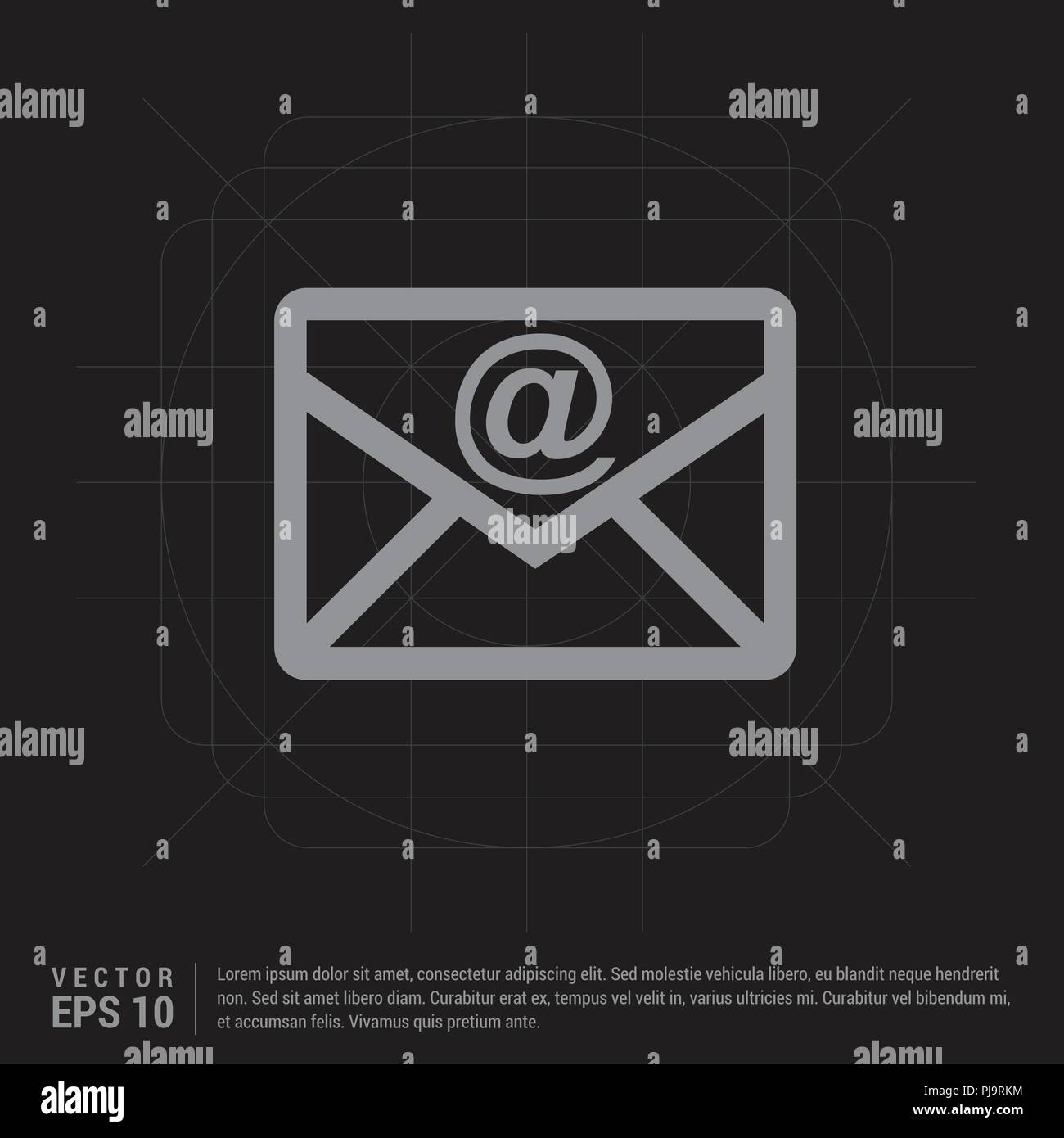 e mail icon black creative background free vector icon stock