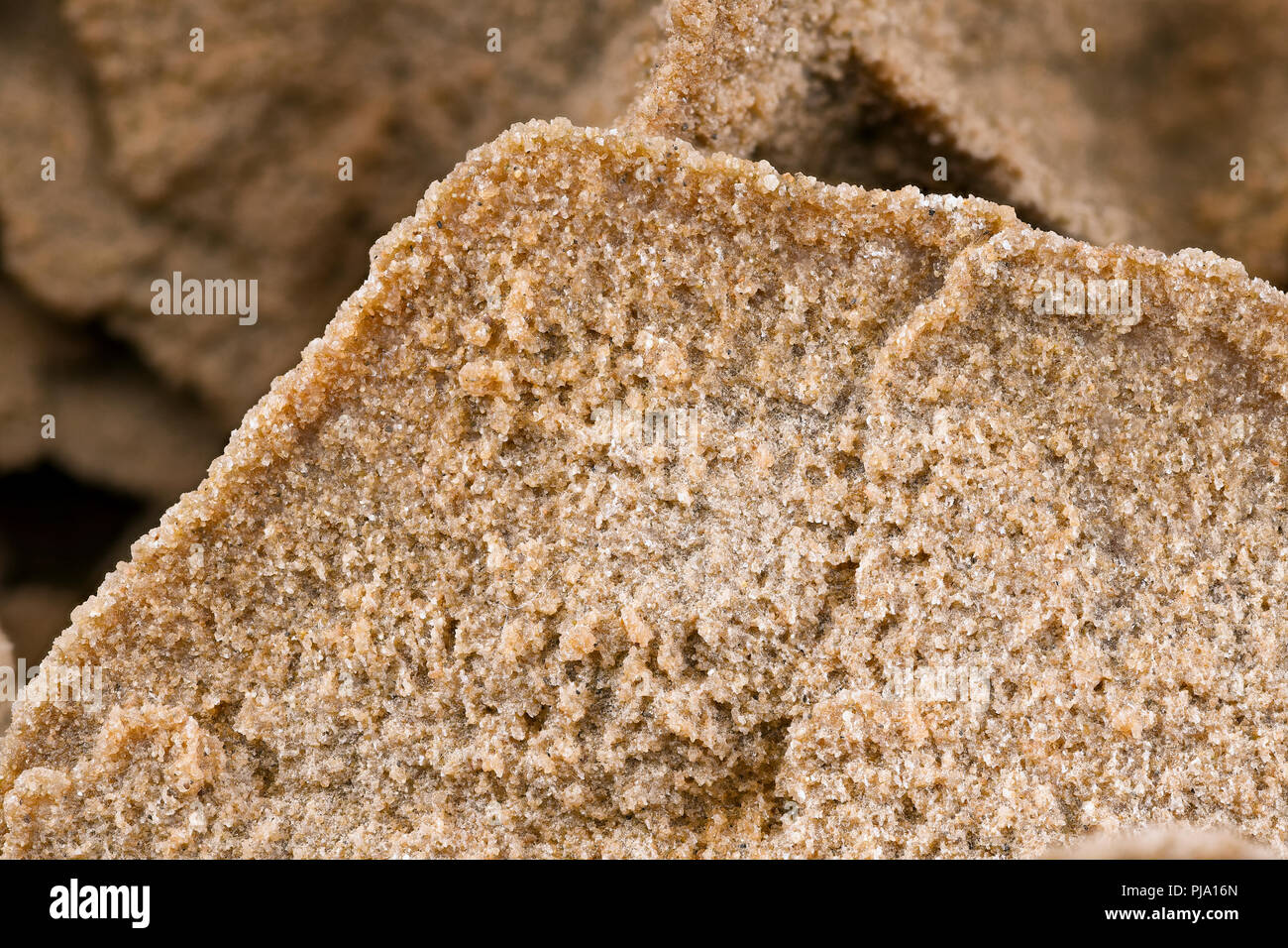 Close-up of a pink red sand rose (size of the sand rose is 43 cm large , 14.5cm height and 29cm width) - Stock Image