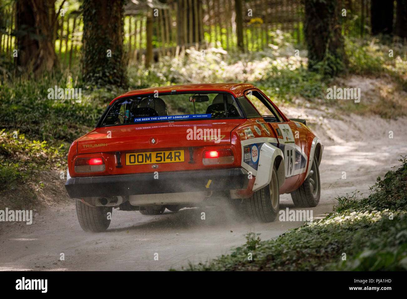 1976 Triumph Tr7 V8 With Driver Roy Gillingham On The Forest Rally