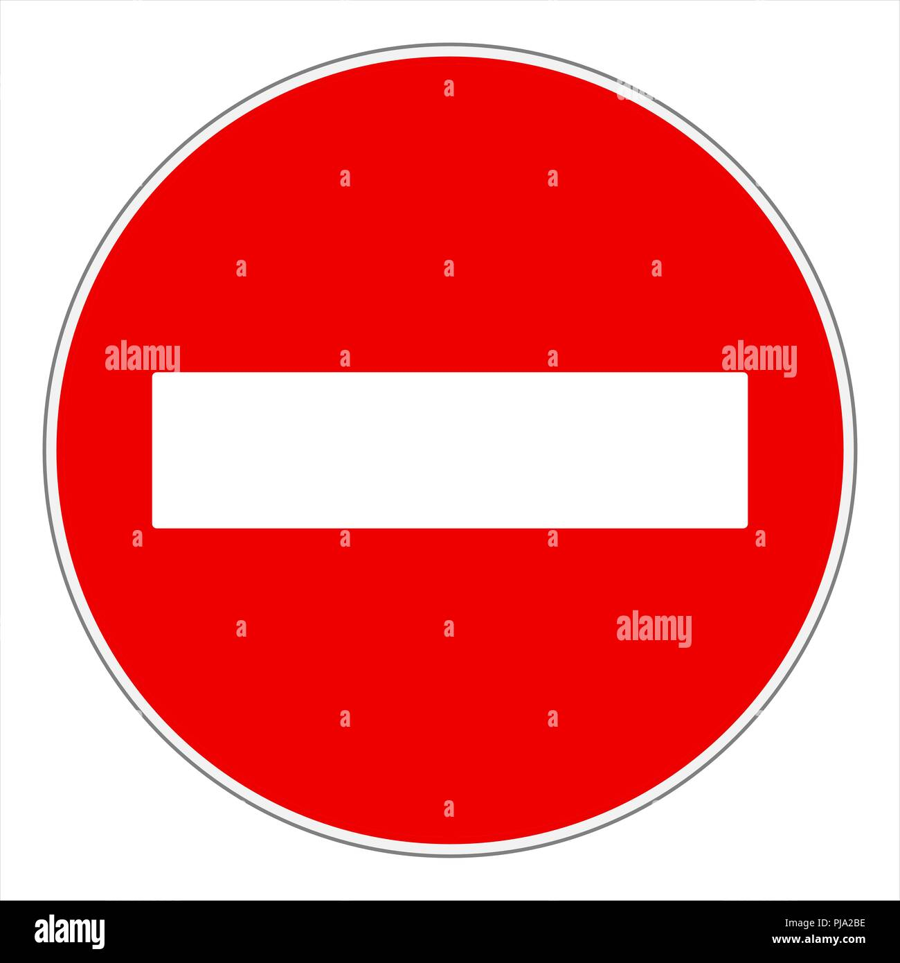No entry or Do not enter! traffic sign - Stock Image