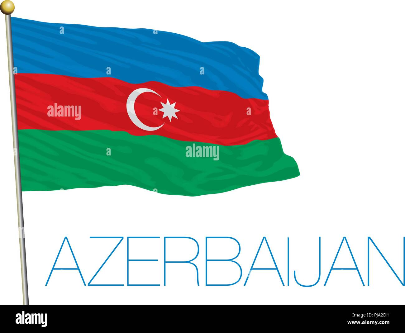 Azerbaijan flag and colors, vector illustration - Stock Vector