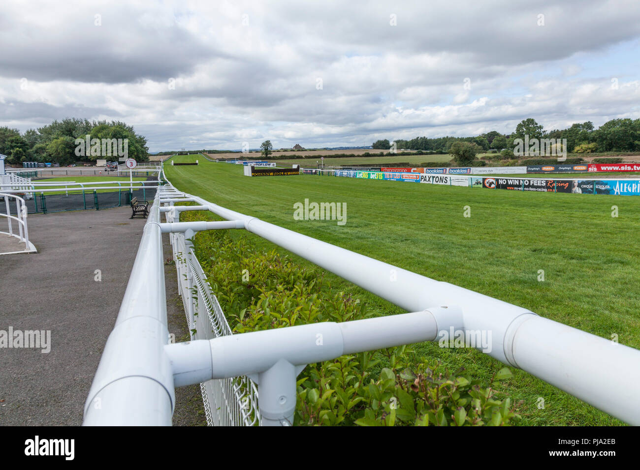 A track side view at Sedgefield Racecourse  at Sedgefield,Co.Durham,England,UK - Stock Image