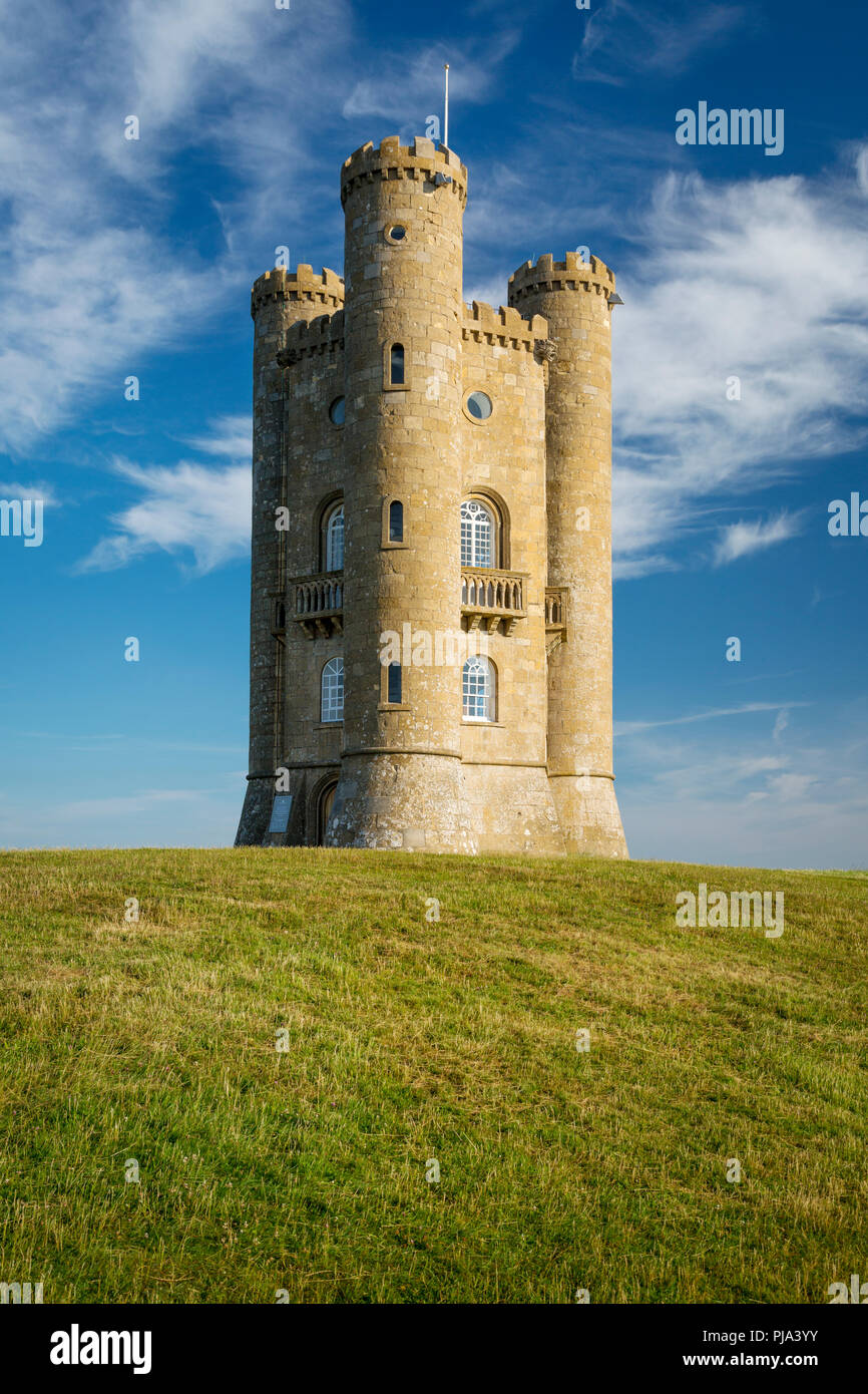 Early morning at the Broadway Tower, Worcestershire, England - Stock Image