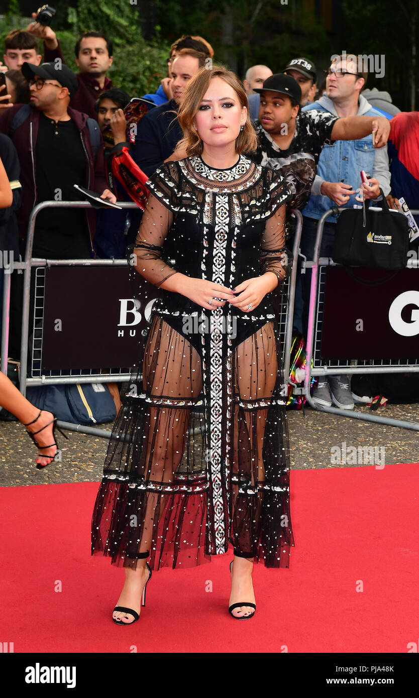 Tanya Burr arriving for the GQ Men of the Year Awards 2018