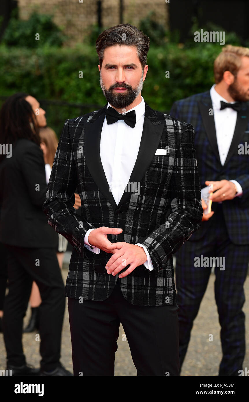 Jack Guinness arriving for the GQ Men of the Year Awards