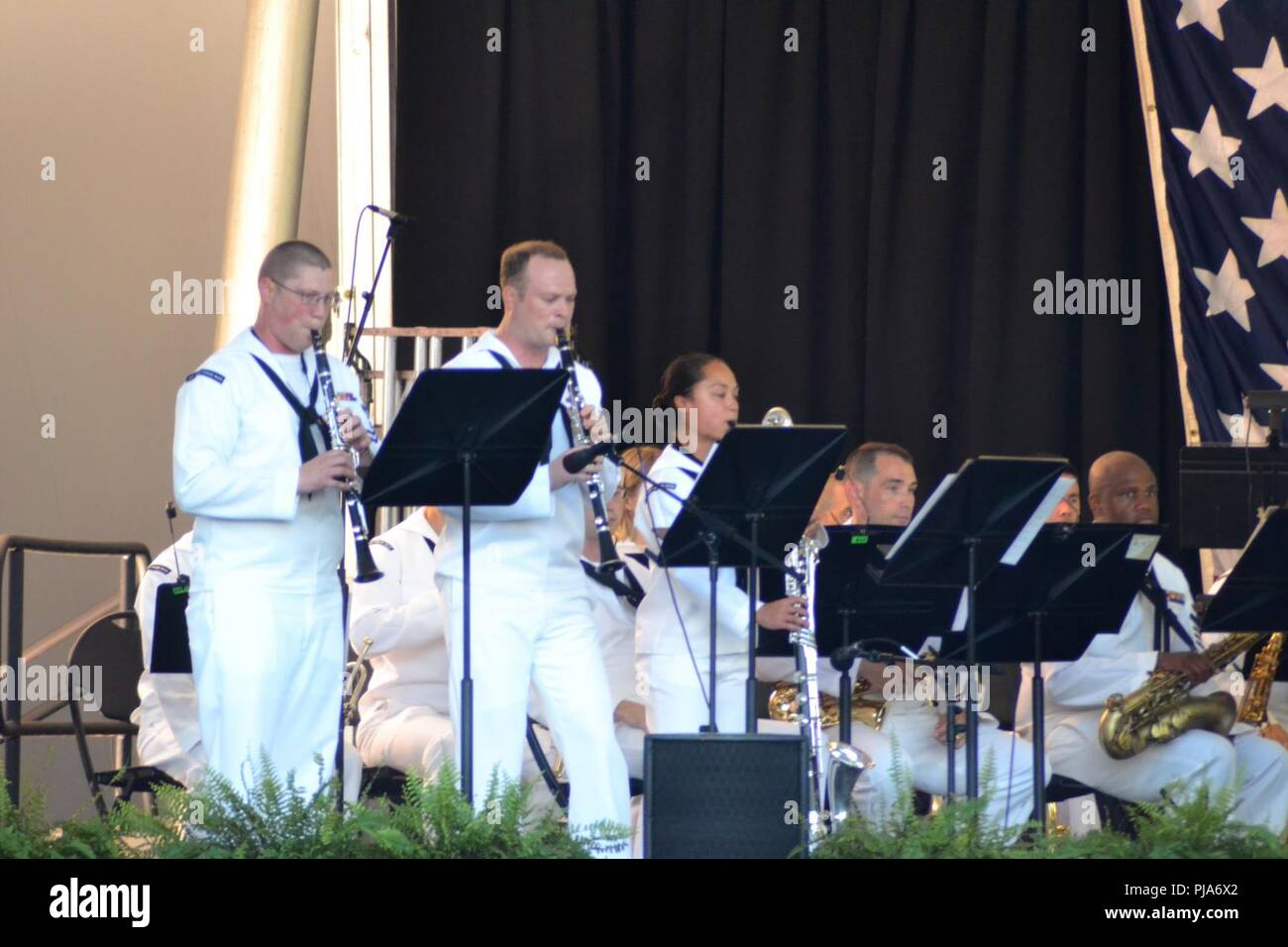 Members of the Wind Ensemble of the US Fleet Forces' Band