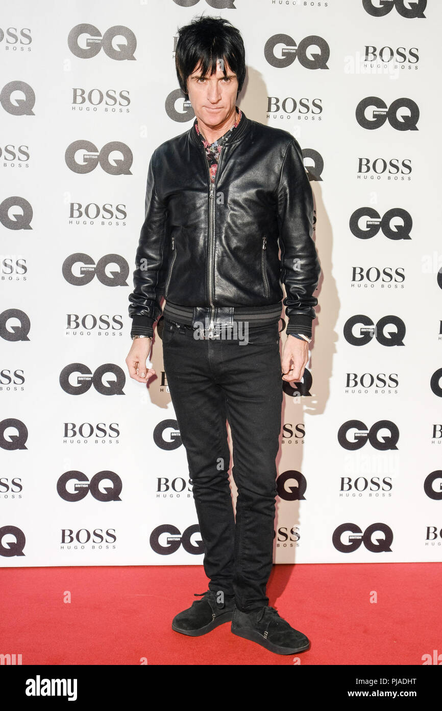 London, UK. 5th September, 2018. Johnny Marr at GQ Men of the Year Awards 2018 in association with Hugo Boss on Wednesday 5 September 2018 held at Tate Modern, London.  . Picture by Julie Edwards. Credit: Julie Edwards/Alamy Live News - Stock Image