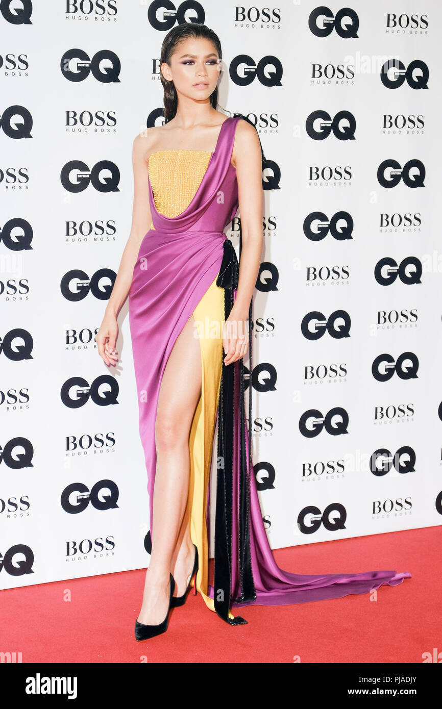 London, UK. 5th September, 2018. Zendaya at GQ Men of the Year Awards 2018 in association with Hugo Boss on Wednesday 5 September 2018 held at Tate Modern, London.  . Picture by Julie Edwards. Credit: Julie Edwards/Alamy Live News - Stock Image
