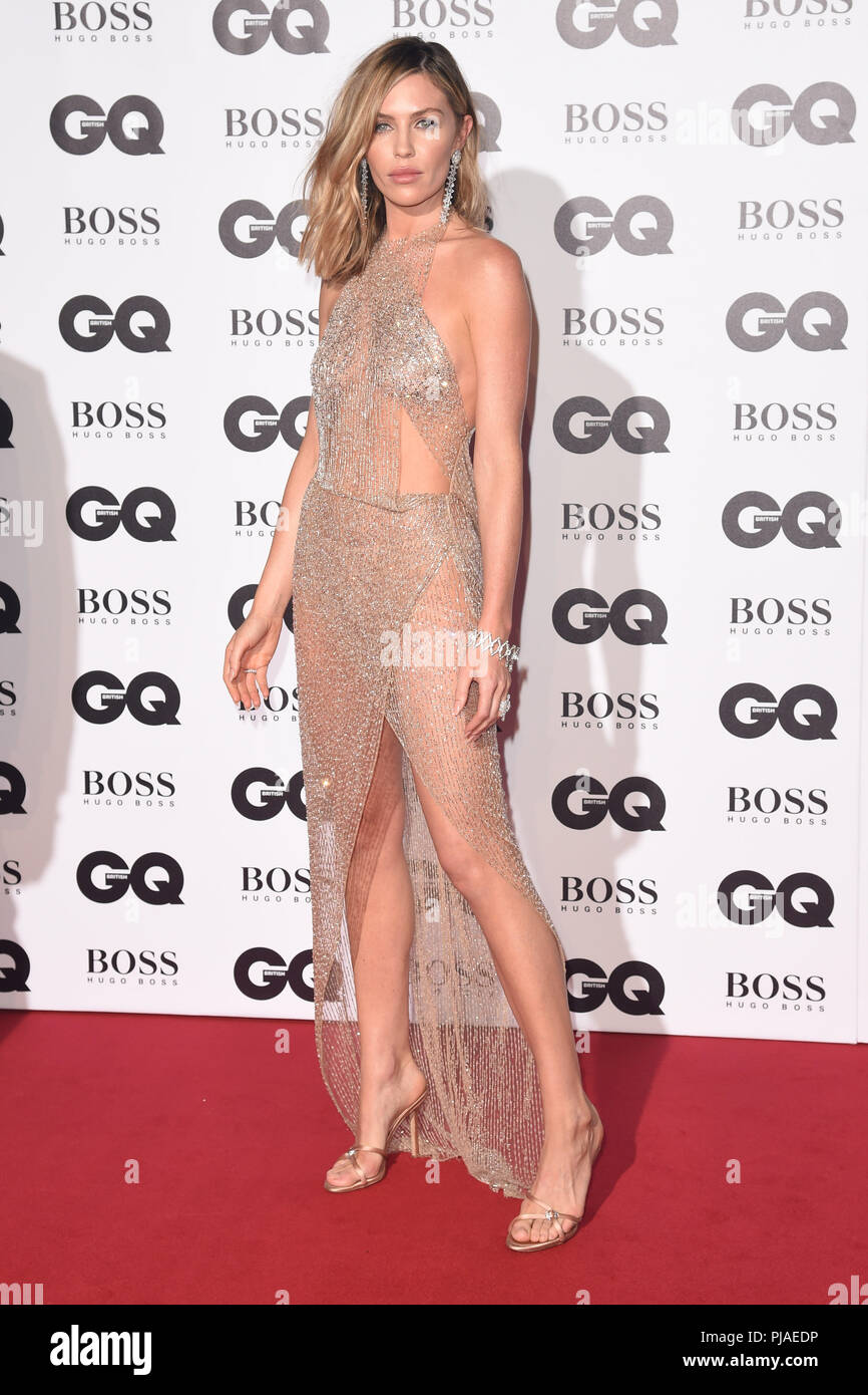 LONDON, UK. September 05, 2018: Abbie Clancy at the GQ Men of the Year Awards 2018 at the Tate Modern, London Credit: Sarah Stewart/Alamy Live News - Stock Image