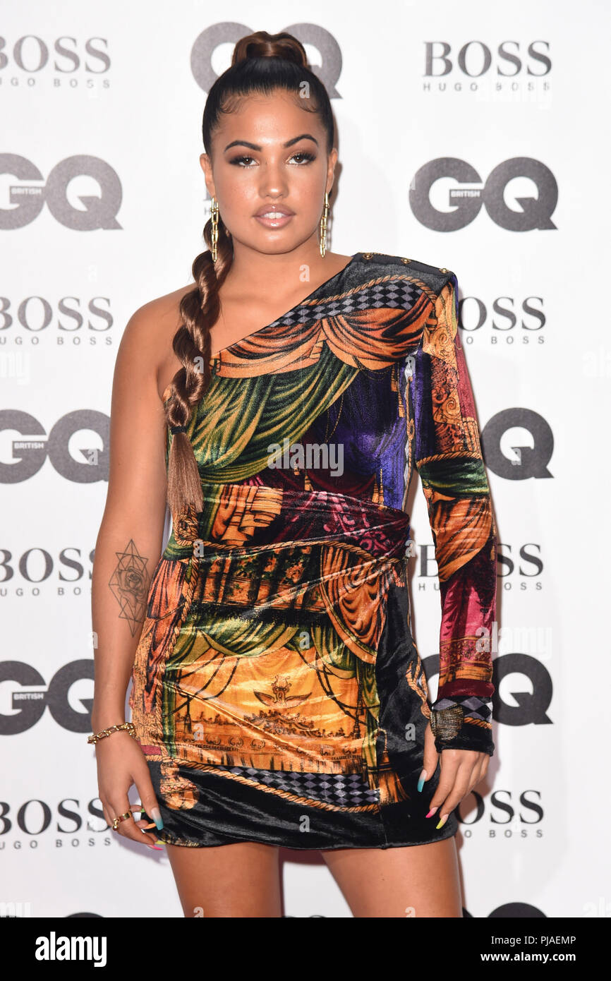 LONDON, UK. September 05, 2018: Mabel at the GQ Men of the Year Awards 2018 at the Tate Modern, London Credit: Sarah Stewart/Alamy Live News - Stock Image
