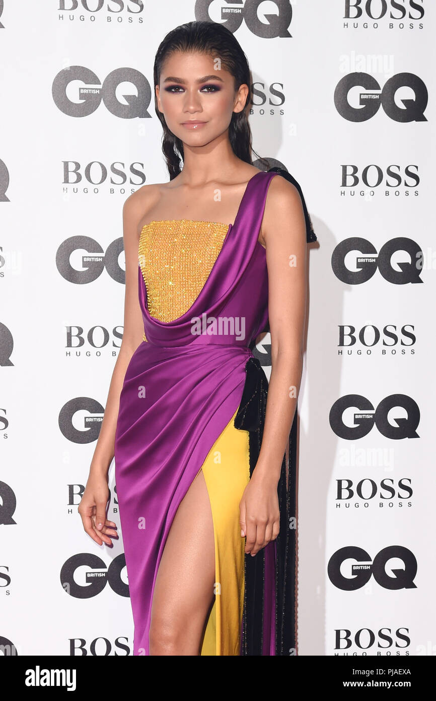 LONDON, UK. September 05, 2018: Zendaya at the GQ Men of the Year Awards 2018 at the Tate Modern, London Credit: Sarah Stewart/Alamy Live News - Stock Image