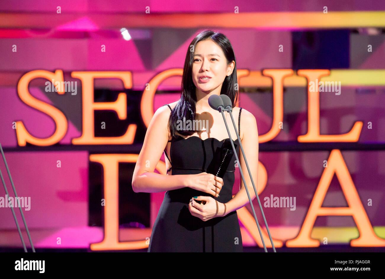 Son Ye-Jin, Sep 3, 2018 : South Korean actress Son Ye-Jin speaks on