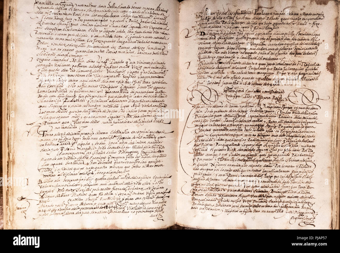 manuscript containing seven letters of voyage accounts and two personal letters to the catholic monarchs from