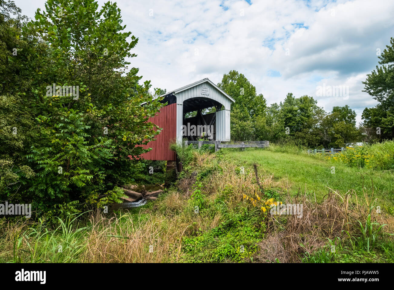 Harra Covered Bridge Stock Photo