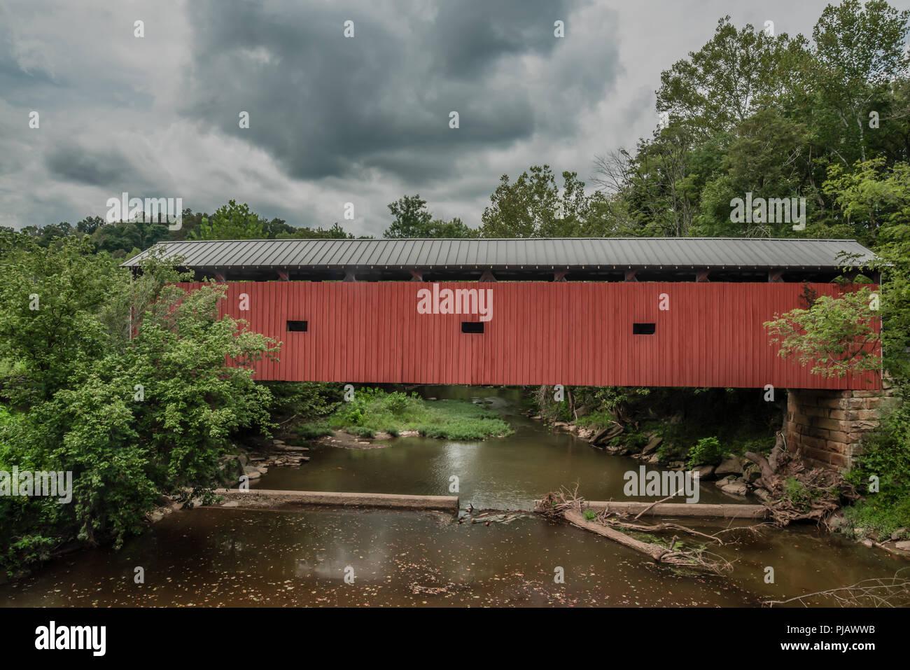 Harra Covered Bridge Stock Photo