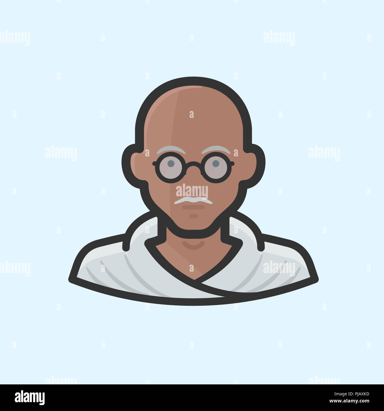 Mahatma Gandhi Cartoon Stock Photos & Mahatma Gandhi Cartoon