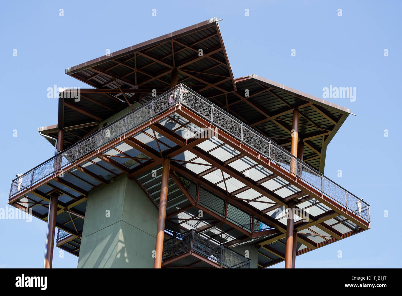 Watchtower, Birds Park, Villars Les Dombes, France - Stock Image
